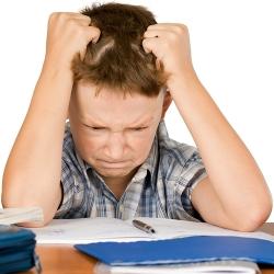 Niño con dificultad de aprendizaje
