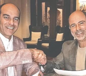 Dr. Michael Soler, creador de Dr. Soler MIC UltraFIT y Jesús Gil, presidente y fundador de Gil Pharmaceutical Corp.